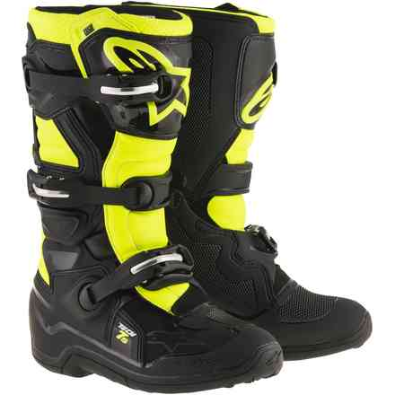Tech 7S. black  yellow Child Boots Alpinestars