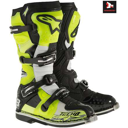 TECH 8 RS BOOT OFF-ROAD MOTOCROSS 2015 giallo-fluo Alpinestars