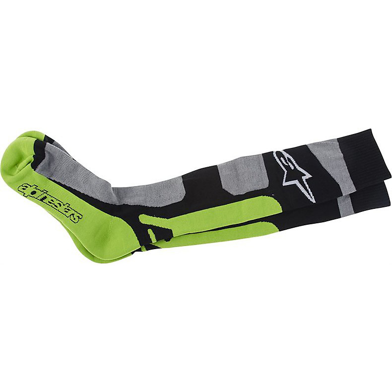 Tech Coolmax Sock gris-black-green fluo Alpinestars