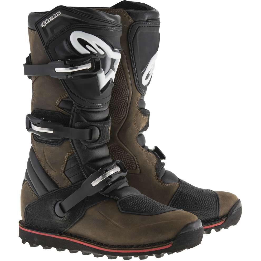 Tech T brown oiled Boots Alpinestars