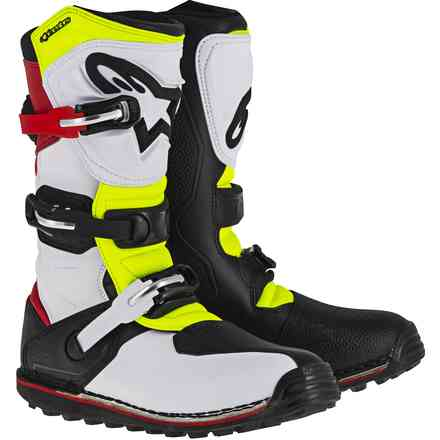 Tech T white-red-yellow-black Boots Alpinestars
