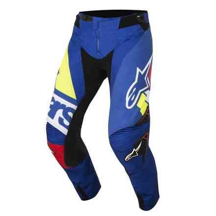 Techstar Factory 2018 pants Blue Red white yellow fluo Alpinestars