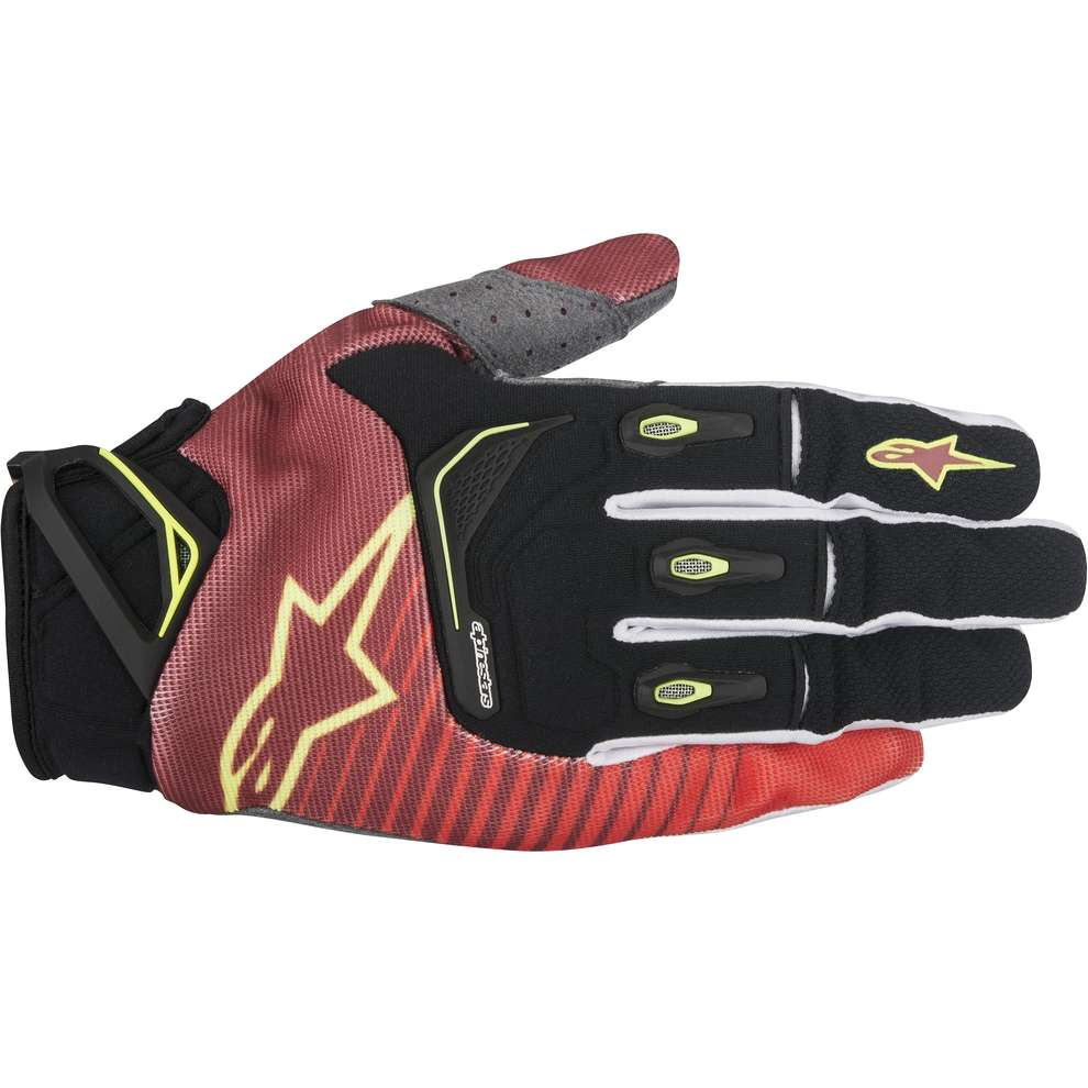 Techstar Factory red-white-giallo fluo Gloves  Alpinestars