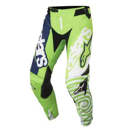 Techstar Venom 2018 pants green fluo white dark blue Alpinestars
