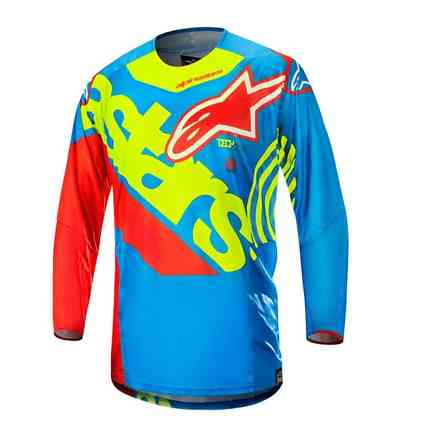 Techstar Venom 2018 t-shirt Aqua yellow fluo red Alpinestars
