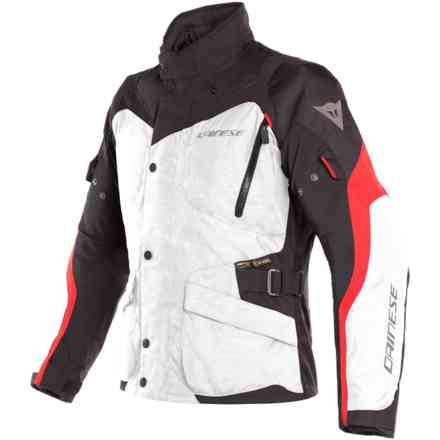 Tempest 2 D-Dry Light Grey black Tour red jacket Dainese