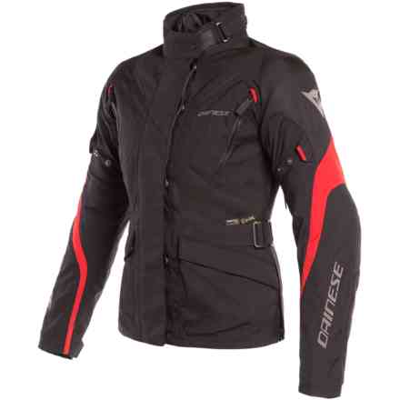 Tempest 2 Lady D-Dry jacket black tour red Dainese