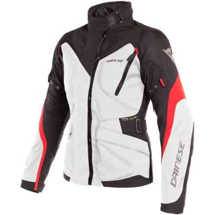 Tempest 2 Lady D-Dry jacket Light Grey black red Dainese