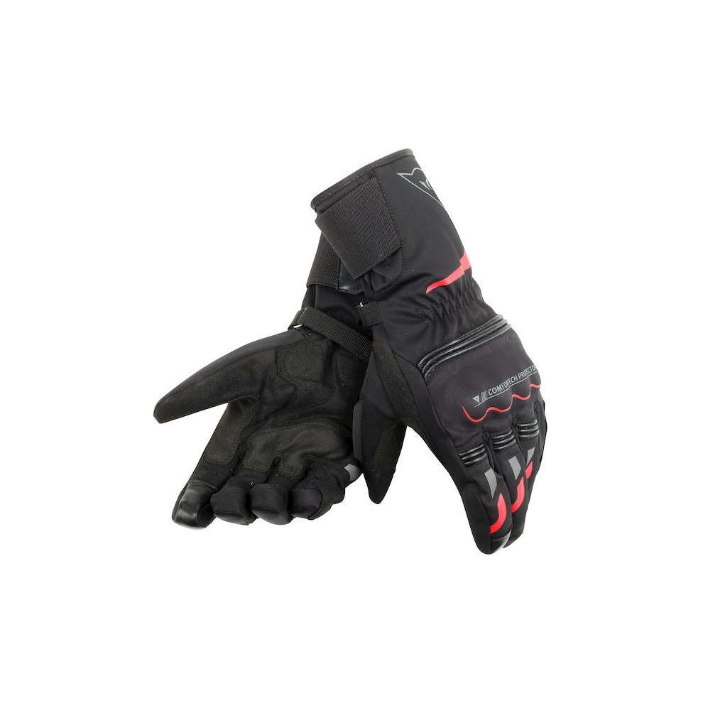 Tempest D-Dry Long black red Gloves Dainese