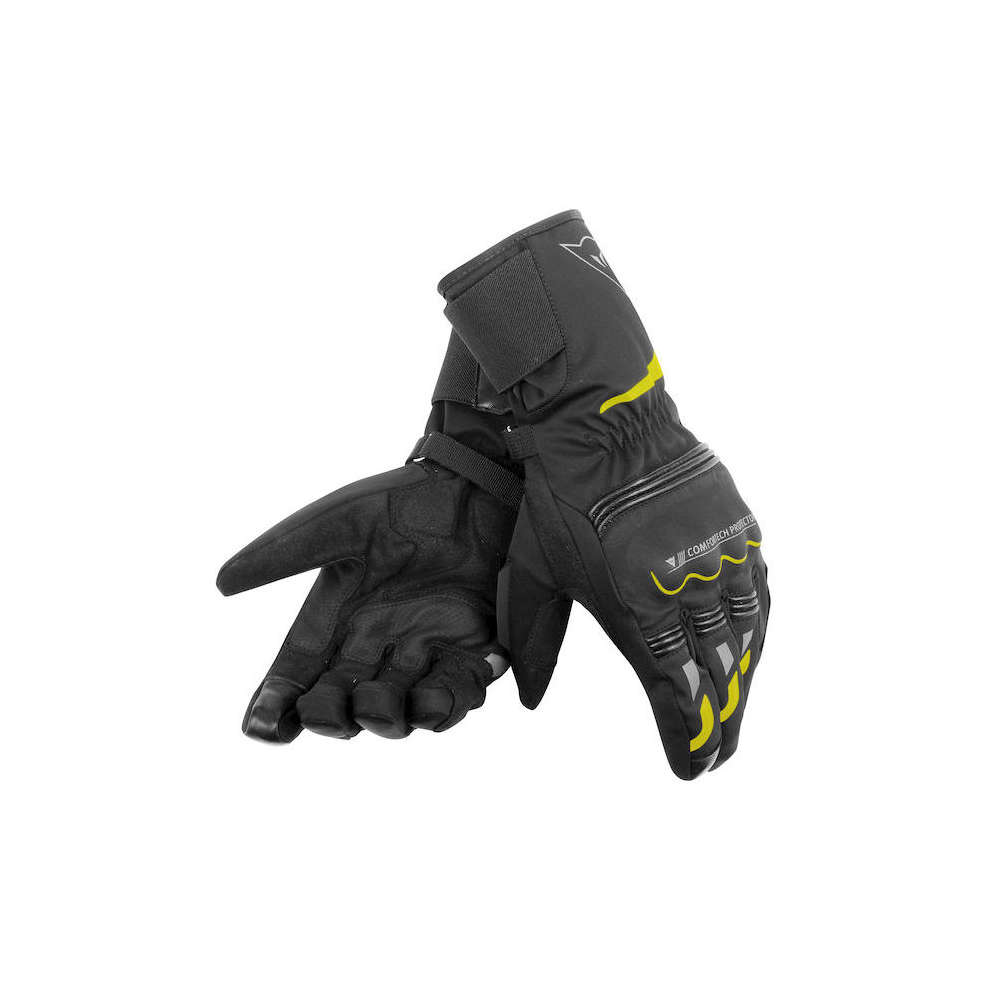 Tempest D-Dry Long black yellow Gloves  Dainese