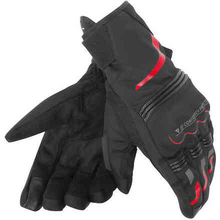 Tempest D-Dry Short black red Gloves Dainese