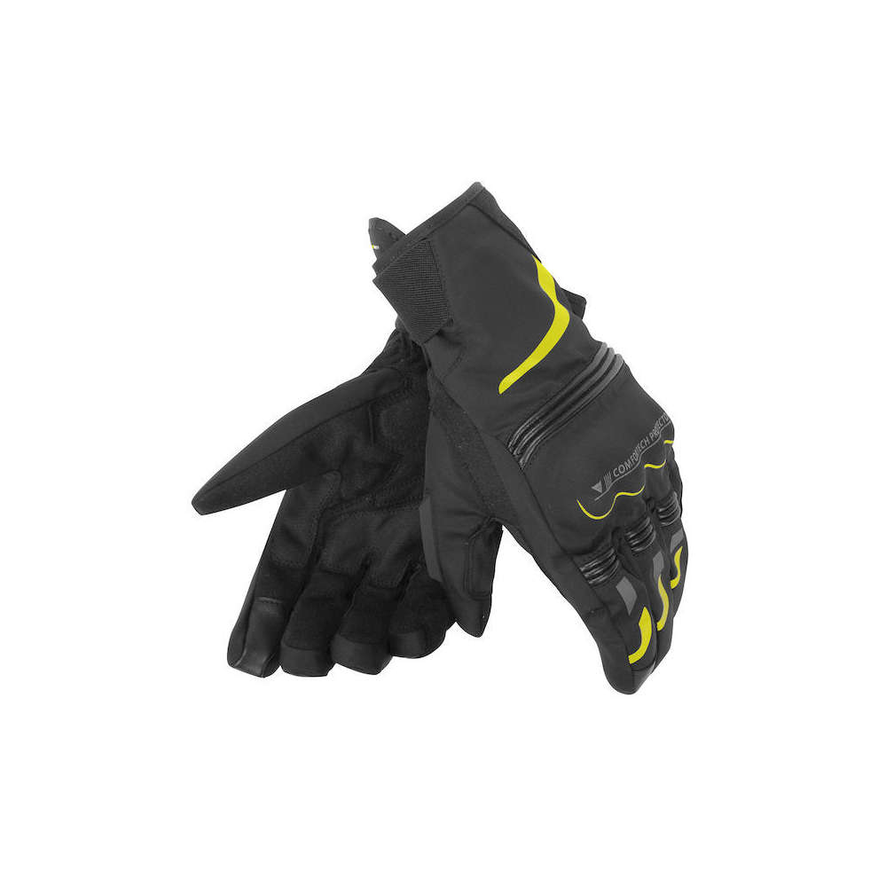 Tempest D-Dry Short black yellow Gloves Dainese