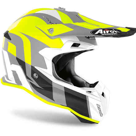 Terminator Open Vision Shoot Helmet yellow matt Airoh