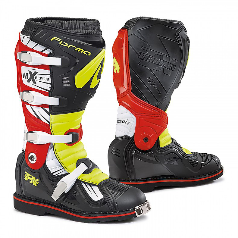 Terrain Tx black-white-yellow fluo-red Boots Forma