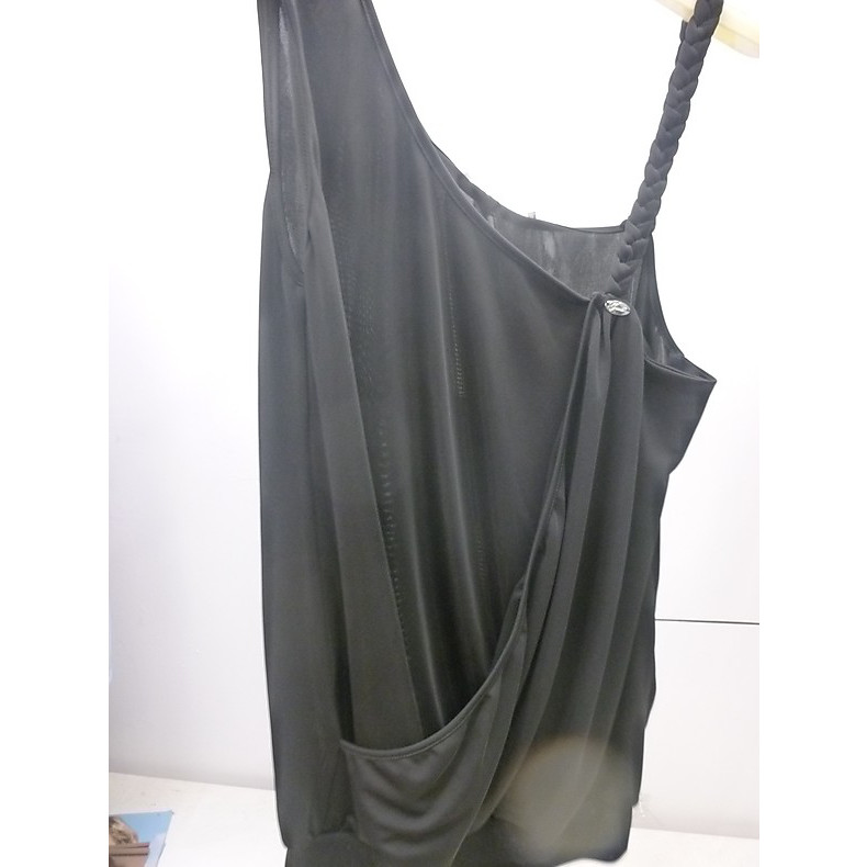 Top one shoulder black Gaudi