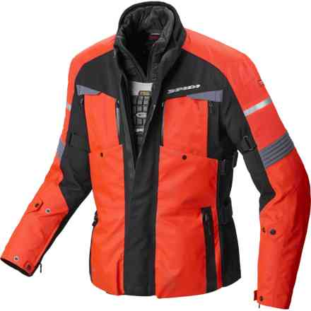 Tour Evo jacket H2Out Red Fluo Spidi