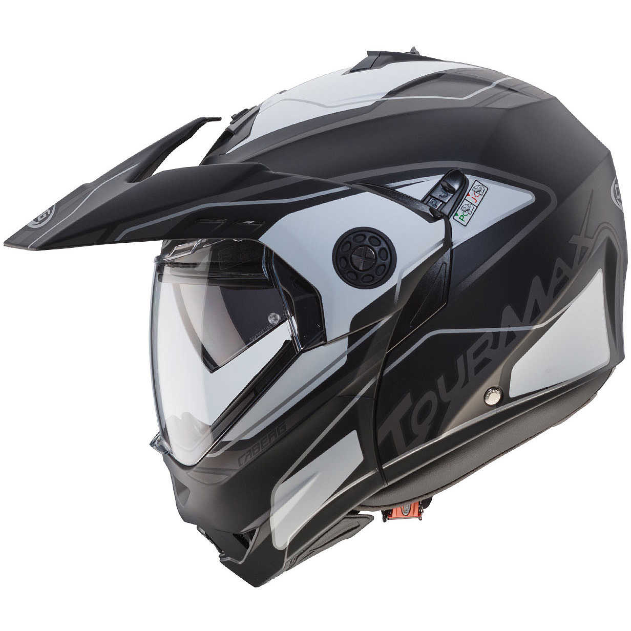 New tourmax marathon matt black white anthracyte helmets for Marathon black max motors