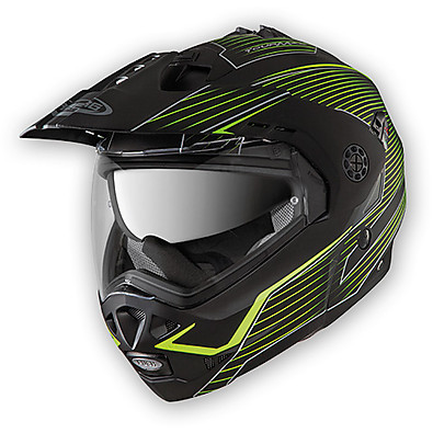 Tourmax Sonic Helmet matt black-yellow fluo Caberg