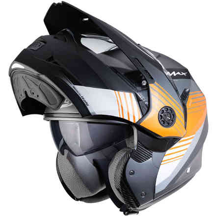 Tourmax Titan Helm Schwarz-Orange Caberg
