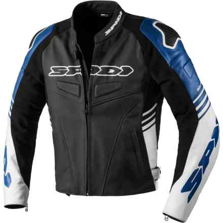 Track Warrior leather jacket Black/Blue Spidi