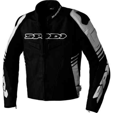 Track Warrior leather jacket Black/White Spidi