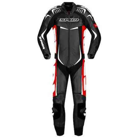 Track Wind Pro black white red Suit Spidi