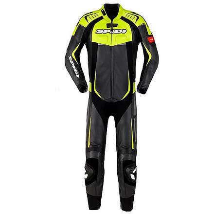 Track Wind Pro Suit lime green-black Spidi