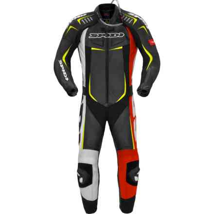 Track Wind Pro Suit red yellow fluo Spidi