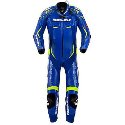 Track Wind Replica Evo Suit Blue-Yellow Spidi
