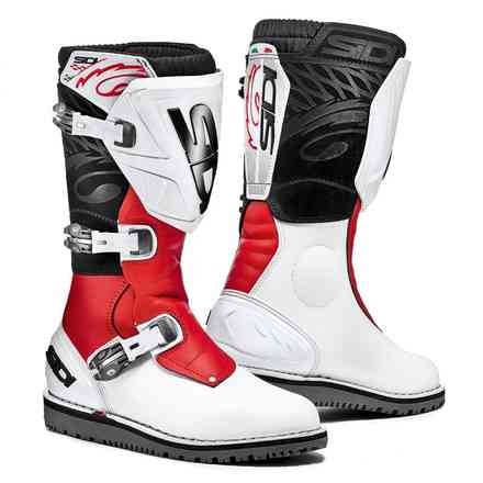 Trial Zero 1 white red Boots Sidi