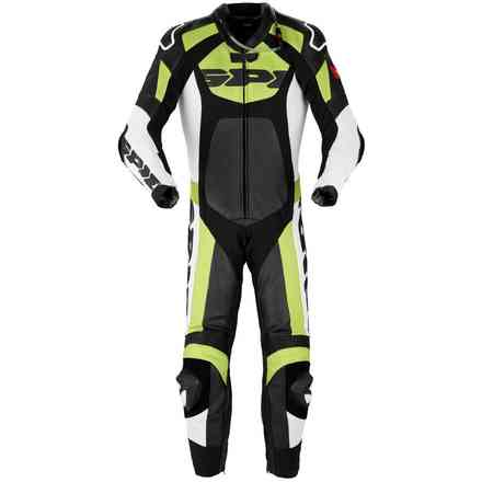 Tronik Wind Pro black green Leather Suit Spidi