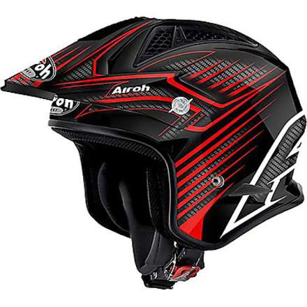 TRR Draft red Helmet Airoh