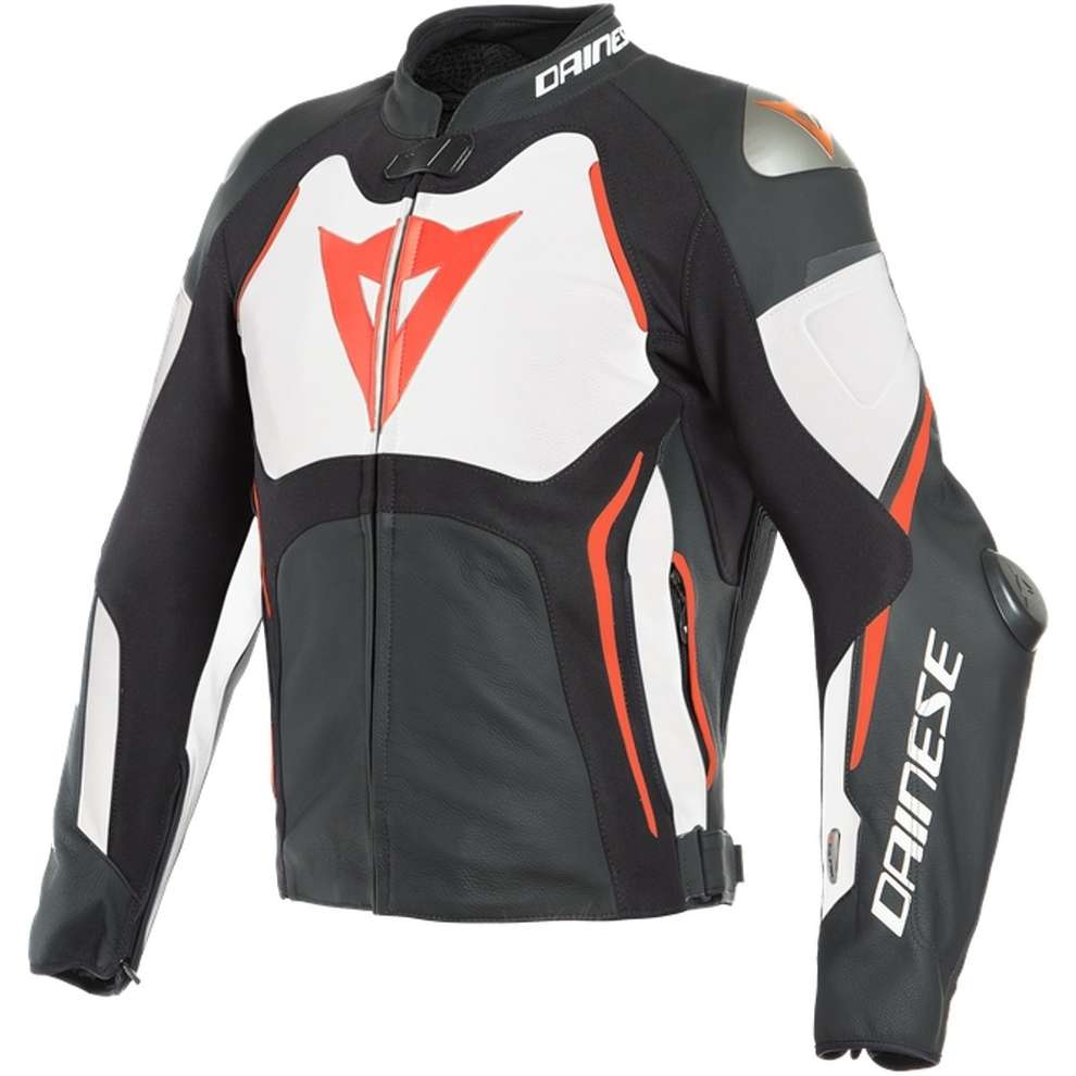Tuono D-Air jacket black white red Dainese