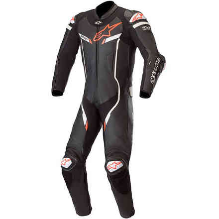 Tuta Pelle Gp Pro V2 1pc T-Air Nero Bianco Alpinestars