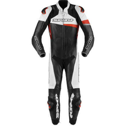 Tuta Pelle Race Warrior perforata rossa Spidi