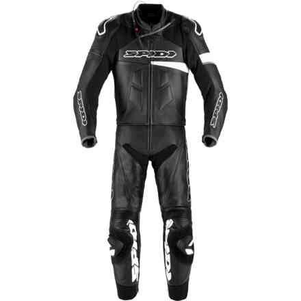 Tuta Pelle Race Warrior Touring Perforata nero bianco Spidi
