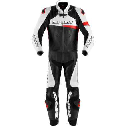 Tuta Pelle Race Warrior Turismo Perforata Rosso Spidi
