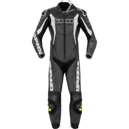 Tuta Pelle Sport Warrior Perforata nero bianco Spidi
