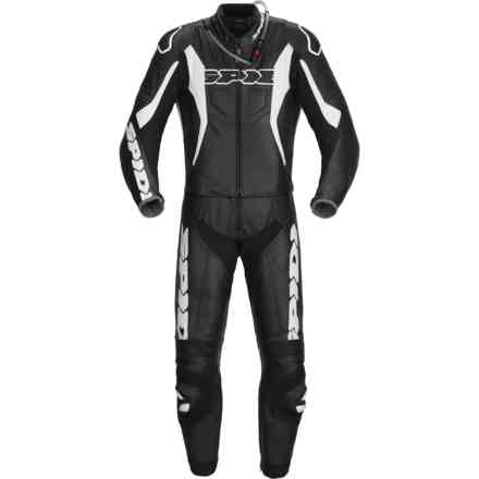 Tuta Pelle Sport Warrior Tour Nero/Bianco Spidi