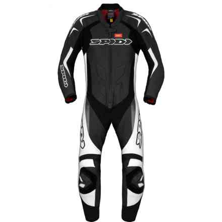 Tuta Pelle Supersport Wind Pro  bianco nero Spidi