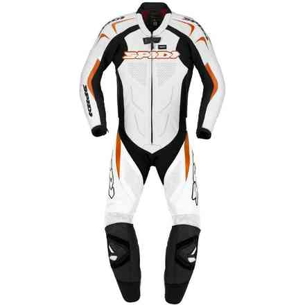Tuta Pelle Supersport Wind Pro nero arancio Spidi