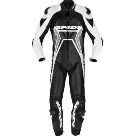 Tuta Pelle Warrior 2 Wind Pro Nero Bianco Spidi