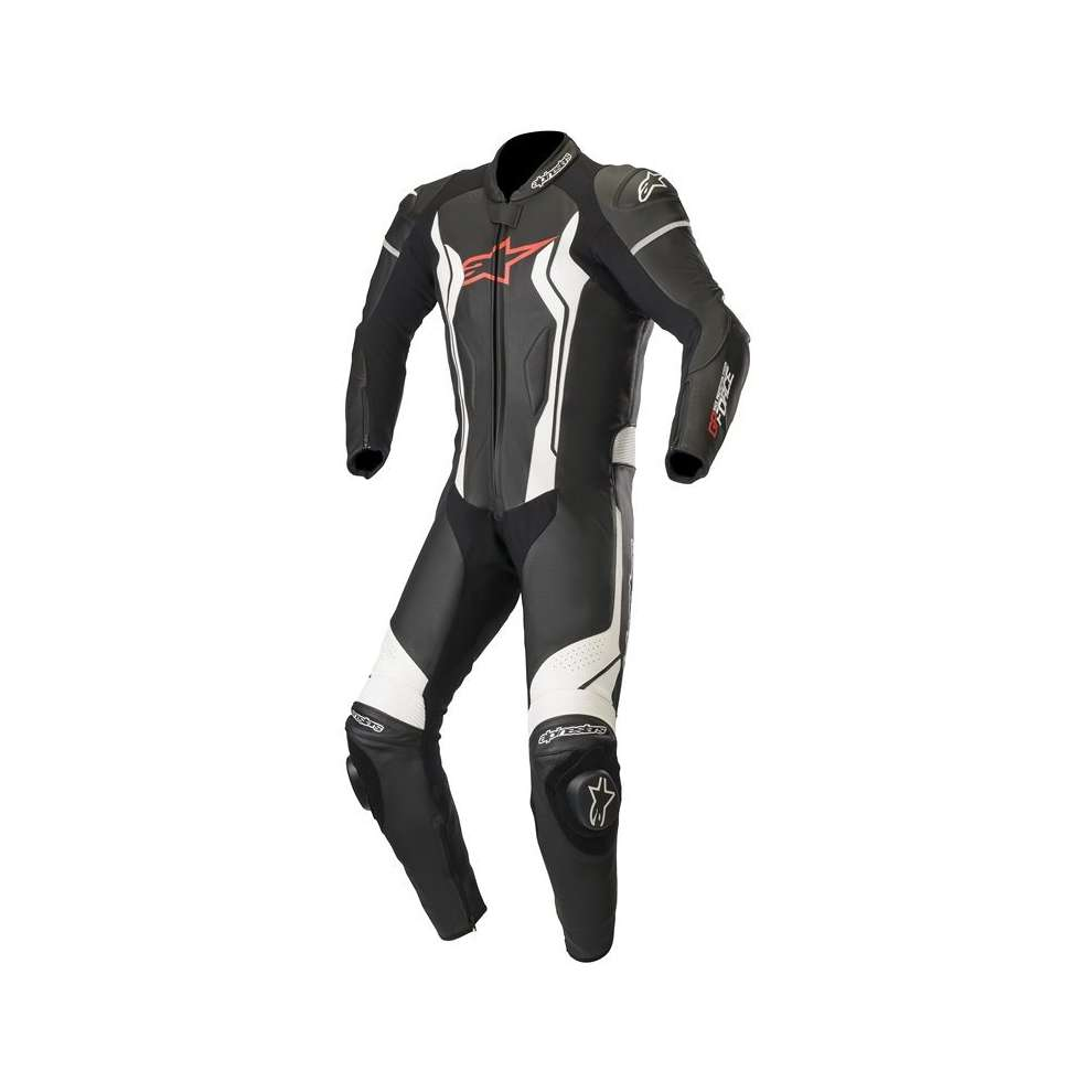 Tute Pelle Gp Force 1 Pc Nero Bianco Alpinestars