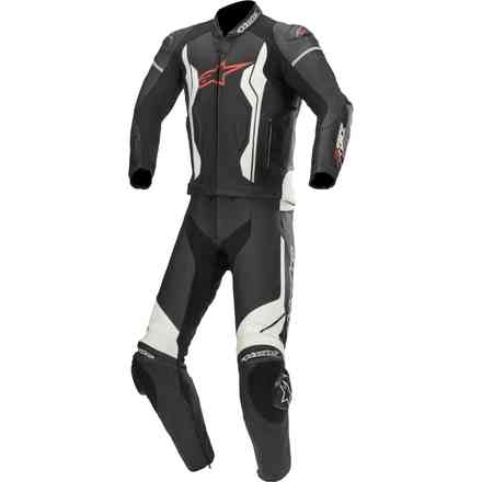 Tute Pelle Gp Force pelle 2 Pc nero bianco Alpinestars