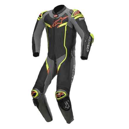 Tute Pelle Gp Pro V2 T-Air Comp. Nero Metallico Alpinestars