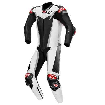 Tute Pelle Gp Tech V3 1 Pc T-Air Nero Bianco Argento Alpinestars
