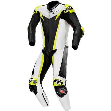 Tute Pelle Gp Tech V3 1 Pc T-Air Nero Bianco Giallo Alpinestars