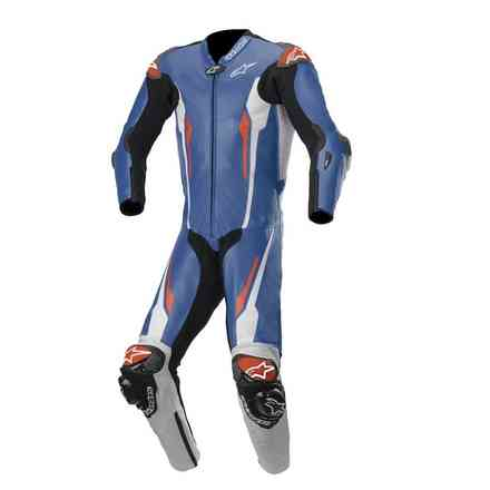 Tute Pelle Racing Absolute 1 Pc Tech-Air Comp blu bianco nero Alpinestars