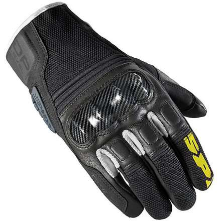 Tx-2 Gloves Black-White-Yellow Spidi