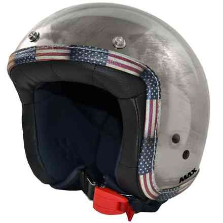 US Jet Flag Helmet Use Chrome Chrome Plated Steel MAX - Helmets